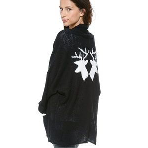 Wildfox White Label Mirrored Deer Cardigan